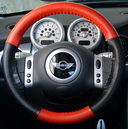 EuroPerf Red-Black Perf on Mini Cooper Wheel